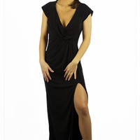 The Jetset Diaries Novella Maxi Dress Black