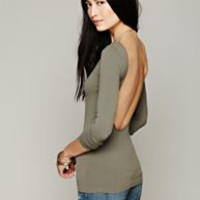 Free People Intimately Solid Low Back Shirt — Bib + Tuck