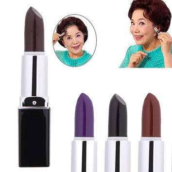 High Quality Lipstick design Beauty girl hot colored pencils single Non-toxic DIY hair color pencil 4 colors optional