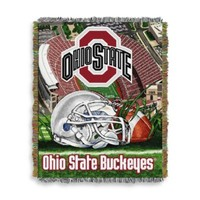 Ohio State University 48-Inch x 60-Inch Tapestry Throw Blanket