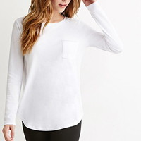 Curved-Hem Pocket Tee