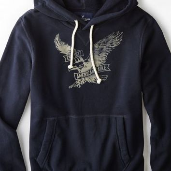 AEO 's Signature Hooded Pop Over (Navy)