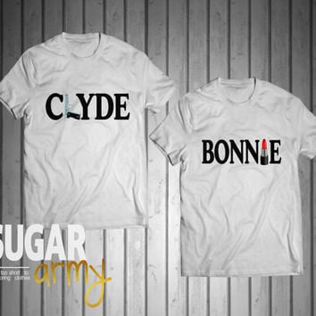 Bonnie Clyde jerseys, Bonnie Clyde t-shirts, couple jerseys, matching shirts for couples, street style shirts, Unisex shirts