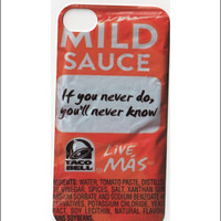 taco bell iphone 5 case, iphone 4/4s case, mild sauce live mas