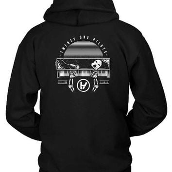 DCCKG72 Twenty One Pilots Skeleton Clique Hoodie Two Sided