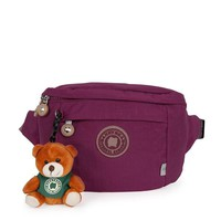 DANNY BEAR Nylon Casual Waist Bag Pure Color Crossbody Bag Shoulder Bags