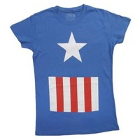 Womens Captain America Costume T-Shirt