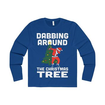 Dabbing Around The Christmas Tree  Long Sleeve Shirt
