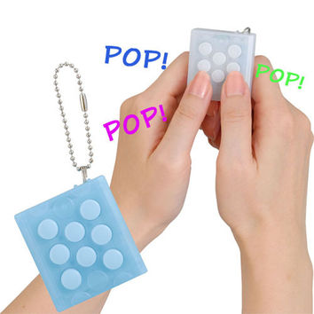 New Electronic Bubble Wrap Keychain Stress Relief Toy