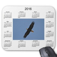 2016 Bald Eagle Calendar by Janz Mouse Pad