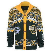 GREEN BAY PACKERS OFFICIAL NFL 2015 UGLY CARDIGAN