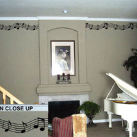 Decorative Vinyl Border | Music Staff | Vinyl Wall Decals