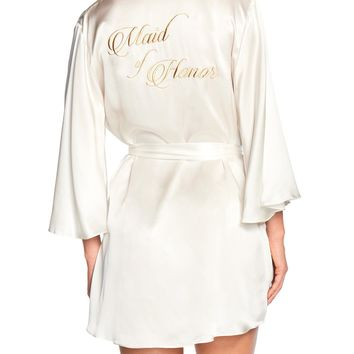 Naked Princess Maid of Honor Silk Robe
