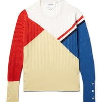 Thom Browne - Colour-Block Ribbed Cashmere Sweater