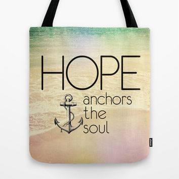 Hebrews 6:19 Hope anchors the soul Tote Bag by Pocket Fuel
