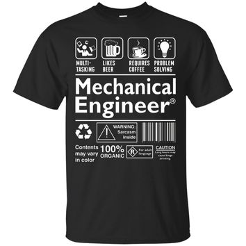 Beer Coffee Problem Solving Mechanical Engineer T-Shirt
