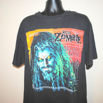90's Rob Zombie Hellbilly Deluxe Vintage Cult Classic Nu Metal Goth Rock Grunge Band Concert Tour T-Shirt