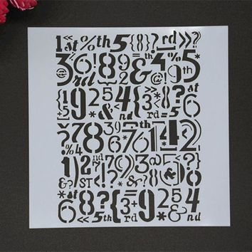 MS080 NUMBERS Masking Spray Stencil For Walls Painting Embossing Paper Crafts Scrapbook Stamp DIY Tools Photo Album Card