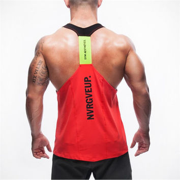 New Brand Shark Mens Tank Tops Stringer Bodybuilding Fitness Men's Tanks Clothes Gymshark Singlets