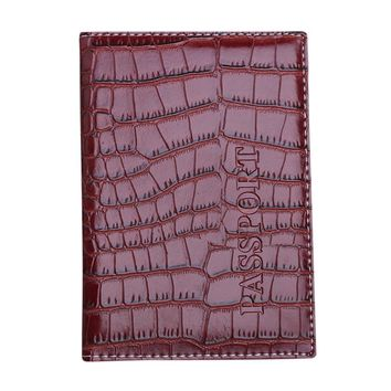 Passport Holder Protector women men Wallet Business Card Soft Passport Cover Leather