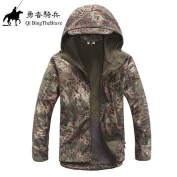 Mens TAD Gear soft shell fleece waterproof jackets Men tactical camouflage army military  clothes brand jacket