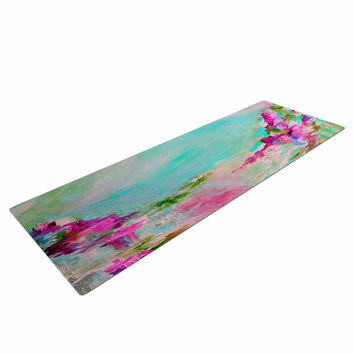 "Ebi Emporium ""Something About the Sea 2"" Teal Pink Yoga Mat"