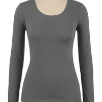 Scoop Neck Long Sleeve Tissue Tee - maurices.com