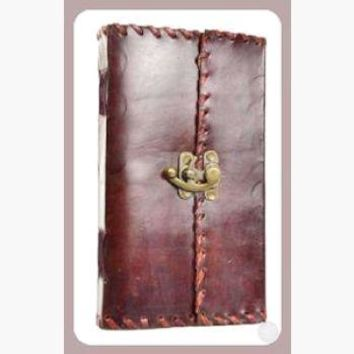 """Romantic Poetry"" Leather Latched  Journal"
