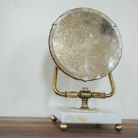 Mid Century Marble Base Hollywood Mirror
