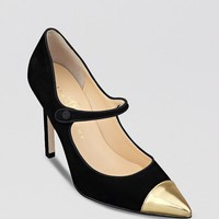 IVANKA TRUMP Cap Toe Pointed Toe Pumps - Carni Mary Jane | Bloomingdale's