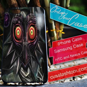 Exclusive Legend of Zelda Majora's Mask iPhone for 4 5 5c 6 Plus Case, Samsung Galaxy for S3 S4 S5 Note 3 4 Case, iPod for 4 5 Case, HtC One M7 M8