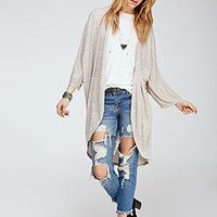 Heathered Maxi Cardigan