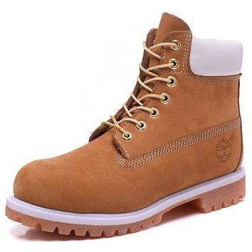 DCCKBE6 Timberland Rhubarb Boots 2018 White Yellow Waterproof Martin Boots