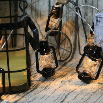 Antique lantern light string 3M 20 leds, portable battery operated party light,Halloween/Christmas DIY party props decoration