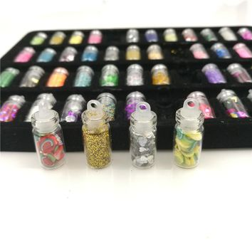 Rushed Glitter Powder Bottles/Colorful Sequins Series Beads Acrylic Rhinestone Decoration