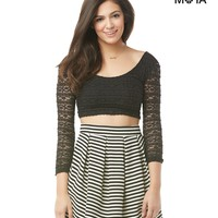 Aeropostale  Womens Striped Ottoman Skirt