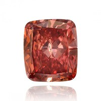 0.29Cts Fancy Red Loose Diamond Natural Color Cushion Shape GIA...