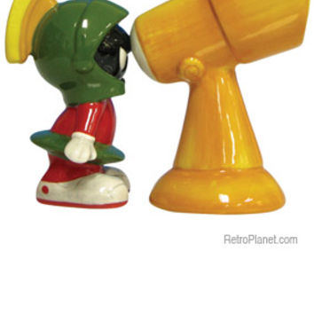 Marvin Martian and Telescope Salt and Pepper Shakers