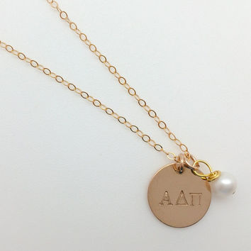 Alpha Delta Pi Gold-Filled Necklace