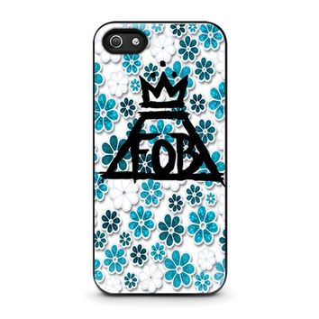 FALL OUT BOY FLORAL iPhone 5 / 5S / SE Case Cover