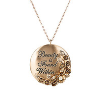 Beauty and the Beast Necklace with Pendant by Danielle Nicole - Live Action Film | Disney Store