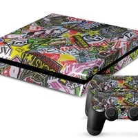Sponsor Decal Stickers PS4 Skin + 2 Controller Skins