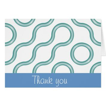 Cool Blue Waves Thank You Notes