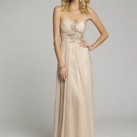 Guest of Wedding Dresses - Strapless Chiffon Grecian Prom Dress from Camille La Vie and Group USA
