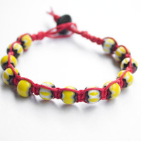 Hemp Bracelet Yellow Hemp Bracelet Red Bracelet Yellow and Red