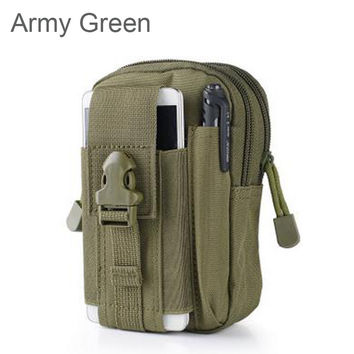 Universal Outdoor Tactical Holster Military Molle Hip Waist Belt Bag Wallet Pouch Purse Phone Cases for iPhone 7 /LG/Zipper 510