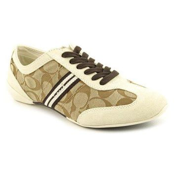 Coach Beyla Khaki women Sneakers Size 10 [Apparel]