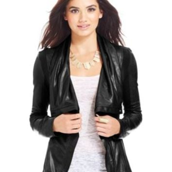 Jessica Simpson Altmar Faux-Leather Jacket | macys.com