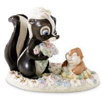 Disney Showcase Collection: Bambi- Flower's Forest Friend By Lenox