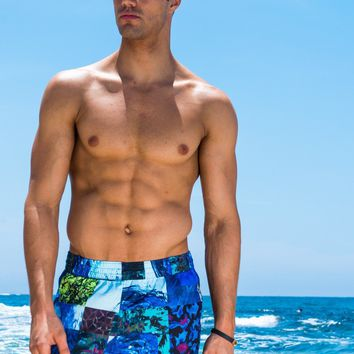 Sauvage Waves Short Beach Trunk